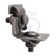 Арт. 91091-2. Держатель проводника круглого 6-10 мм для фальца 0.7-8 мм универсальный, оцинк. фото