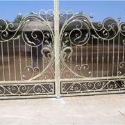 Ворота частные из кованого железа №61 фото