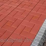 Красная тротуарная плитка толщина 40 фото