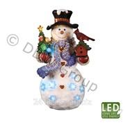 Декорация Снеговик с елочкой 45см фото