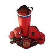 Набор боксерский Чемпион (Мешок 40см, перчатки, лапы, пояс чемпиона) фото