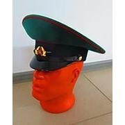 Фуражка Пограничника СССР с кокардой и лакированным ремешком фото