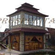 Двухэтажная беседка - пагода с подвалом от Prosperitas. фото