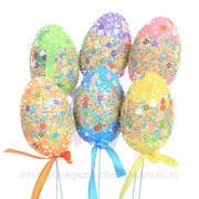 Изделие декоративное (вставка) Яйцо пасхальное (4*6), набор из 6-ти шт, L18 W6 H30 см фото