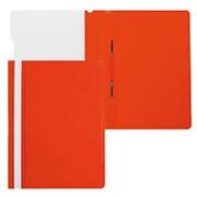 """Папка-скоросшиватель А4 Бюрократ """"Премиум"""", пластиковая, с боковым прижимом, цвет красный 816305 фото"""