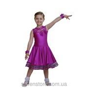 Рейтинговое платье сиреневого цвета (бейсик) фото