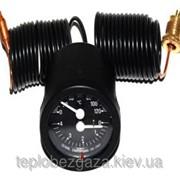 Термоманометр круглый Cewal TI 52 P 0-120° 4 бар, черный с капилярами 1,5м фото
