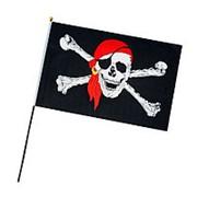 Флаг пират маленький 20x30см фото