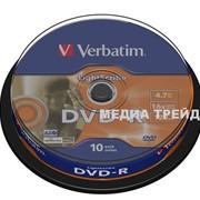 Диски DVD VERBATIM DVD-R 4,7Gb 16x Cake 10 pcs LightScribe 43643 фото