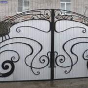 Изготовление ворот, ворота распашные фото