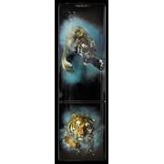 Холодильник POZIS RK 149 А чёрн, худ.роспись.*Ныряющий тигр* фото