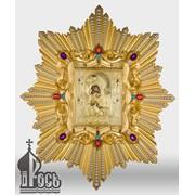 Почаевская икона Божией Матери в ризе с лучами фото