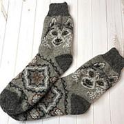 Носки мужские шерстяные из овечьей шерсти Собака, Р-р 42-45 фото