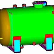 Аппарат емкостный цилиндрический для газов и жидких сред типа ГЭЭ фото