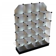 Модульные витрины (кубики) из стекла фото
