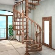 Лестницы деревянные винтовые фото