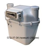Счетчик газа диафрагменный с термокомпенсатором СГД-3Т G6 (правый) (250 мм) фото