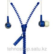 Внутриканальные стерео наушники SmartTrack Zzip, провод в виде молнии, синиеSTE-4700/200/50 фото