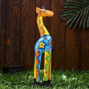 """Сувенир дерево """"Жираф"""" 42х11х6 см фото"""