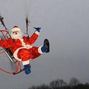 Летающий Дед Мороз фото