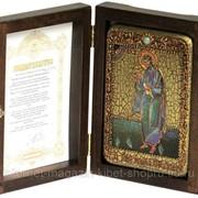 Настольная икона Святой апостол Андрей Первозванный на мореном дубе фото