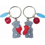 Брелоки сувенирные, Двойной брелок для ключей мишки Тедди с сердцем фото