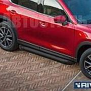 """Порог - площадка RIVAL """"F-Black"""" для Nissan Navara 2005-2010-2015 фото"""