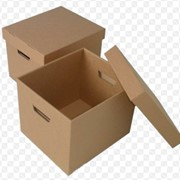 Коробка 4-х клапанная (марка Т-21) картон трехслойный бурый фото