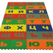 Детский коврик пазл русский и английский алфавит фото