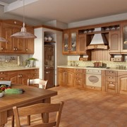 Кухни из натурального дерева Леда фото