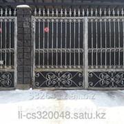 Ворота с элементами иранской ковки фото