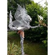 Скульптура феи из проволоки фото