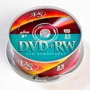 Диск DVD+RW VS 4,7GB, 4x, cakebox/25шт, перезаписываемый фото