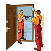 Монтаж дверей. фото
