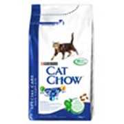 Корм Cat Chow Feline 3 in 1 с формулой тройного действия 1,5 кг фото