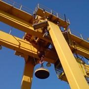 Кран мостовой двухбалочный специальный магнитный г/п 6,3 т . фото