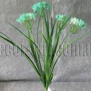 Ветка декоративная с бирюзовым цветом 50 см 7113 фото