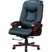 Кресло Ванкувер, кожа черная (625-B+PVC) фото