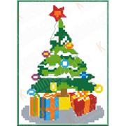 Набор для вышивания крестом Новогодняя ёлка КТК - 6002 фото