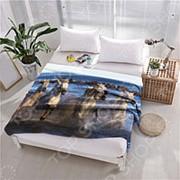 Плед флисовый ТамиТекс «Белые лошади» фото