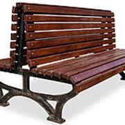 """Скамейка парковая """"Вокзал двухсторонняя"""", 1,0м фото"""