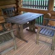 Садовая мебель, комплект стол и три кресла фото