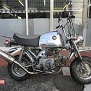 Мопед мокик Honda Monkey Gorilla рама Z50J гв 1999 Minibike тюнинг багажник пробег 9 т.км серебристый фото