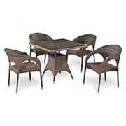 Комплект плетеной мебели T220BG/Y90CG-W1289 Pale 4Pcs фото