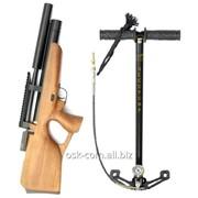 Пневматическая винтовка PCP Kozak Compact ZBROIA с насосом ВД фото