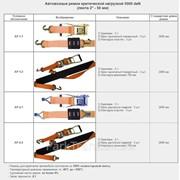 """Автовозный ремень, критическая нагрузка 5000 daN (лента 2""""-50 мм) АР-1-1 фото"""
