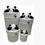 Корзина для белья Панда код TB33R-S фото